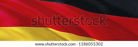 Deutchland flag. 3D rendering Waving flag design. The national symbol of Germany. 3D Waving sign design. Waving sign background wallpaper. 3D pattern background Germany download HD wallpaper graphics