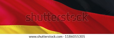 Deutchland flag. 3D rendering Waving flag design. The national symbol of Germany.  3D Waving sign design. Germany Waving sign background wallpaper. 3D pattern background download HD wallpaper graphics