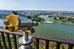 Deutsches Eck - Koblenz, Germany - Where the Rhine and Mosel Rivers Meet