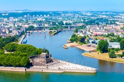 Deutsches Eck or German Corner is the name of a headland in Koblenz, where Mosel river joins Rhine in Germany