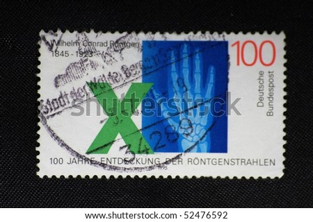 DEUTSCLAND - CIRCA 1995: A stamp printed in Deutschland shows x-ray, circa 1995