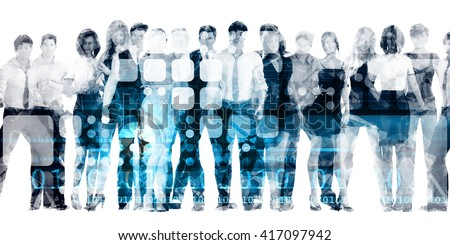 Developing Workforce or Develop Talent in a Company 3D Illustration Render