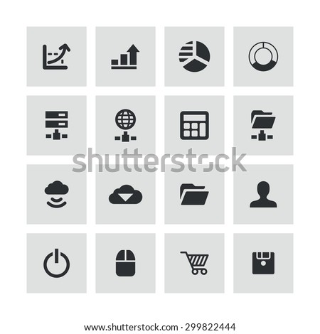 development, soft icons universal set for web and mobile #299822444