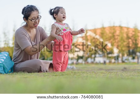 449ce1524 Free photos Asian baby cute girl with curly hair walk in the park ...