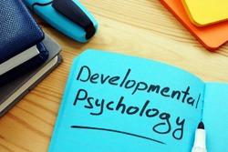 Developmental psychology sign on the blue page.