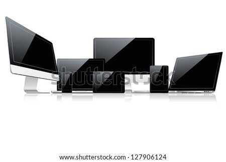 Device set. Vector version also available in gallery.