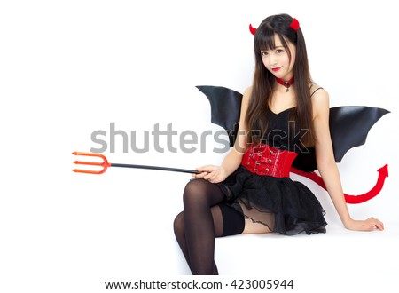 devil girl cosplay Halloween woman sexy glamour