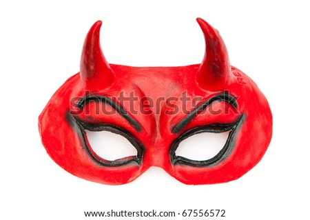 Devil mask isolated on the white background