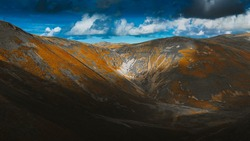 Devil's Beef Tub Scotland cloud shadows 12mm Wide-angle Lens