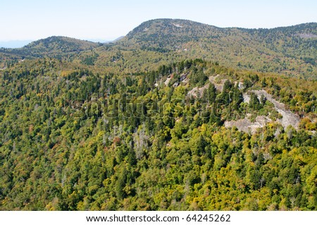 Devil's Courthouse overlook view in fall