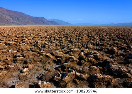 Devils Golf Course in Death Valley National Park California