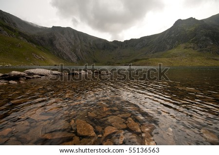 Devils Kitchen Wales With Copy Space Stock Photo 55136563