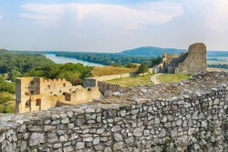 Devin castle in Bratislava, Slovakia. The castle was first mentioned in written sources in 864