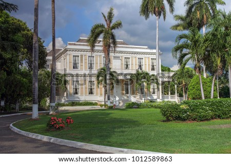 Devon House in Kingston Jamaica.. Nowdays is a museum, opening its gardens for public and famous for its ice-cream.