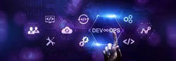 DevOps Methodology Development Operations agil programming technology concept.