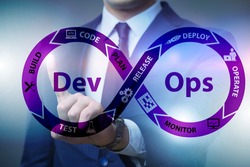 DevOps software development IT concept