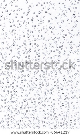 Dew of water on the white background