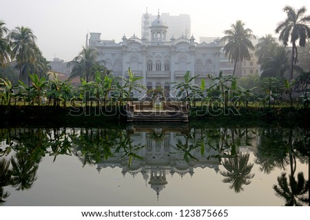 DHAKA, BANGLADESH - DECEMBER 13: Rose Garden Palace on December 13, 2012 in Dhaka,Bangladesh. Rose Garden Palace was built as a pleasure lodge for the well-heeled residents in the nineteenth century.
