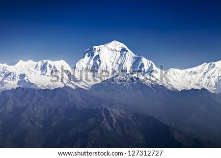 Dhaulagiri mountain at the sunrise, Himalaya
