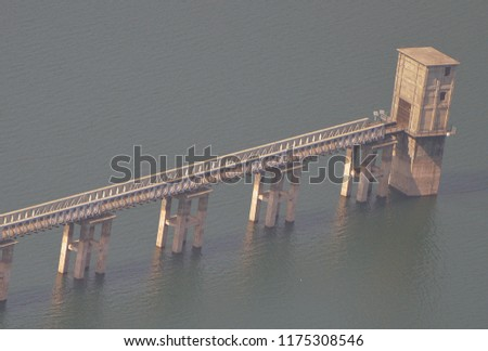 Dhom Dam, a view from Kate's Point at Mahabaleshwar #1175308546