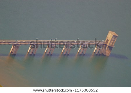 Dhom Dam, a view from Kate's Point at Mahabaleshwar #1175308552