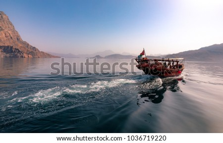 Dhow cruise in the fjords of Musandam, Oman