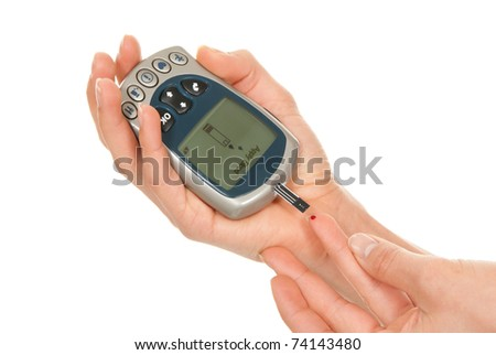 Glucose sugar level blood test for diabetic patient using new smart