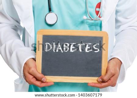 Diabetes sugar disease doctor ill illness health slate board