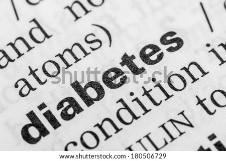 Diabetes Word Definition In Dictionary