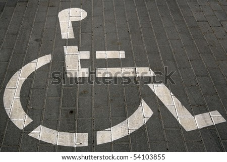 diabled people sign