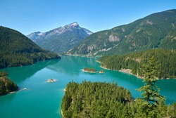 Diablo Lake North Cascades. Diablo Lake in North Cascades National Park, Washington State, USA.