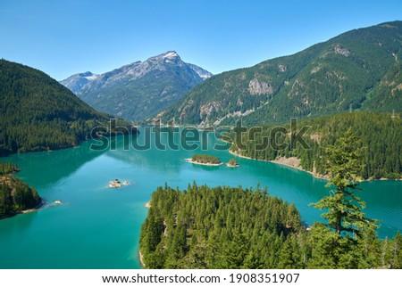 Diablo Lake North Cascades. Diablo Lake in North Cascades National Park, Washington State, USA.                                  Foto stock ©
