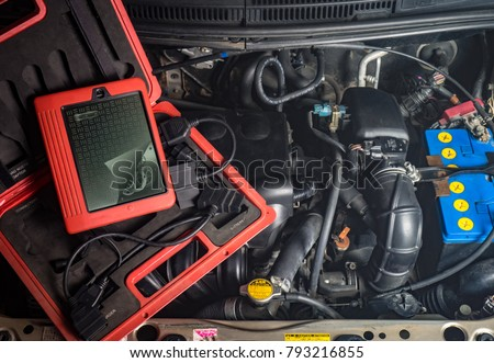 diagnostic equipment for car repair, motor, wire battery