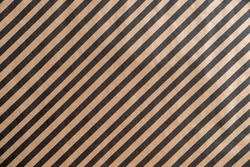 Diagonal black pattern stripe on recycled paper texture background