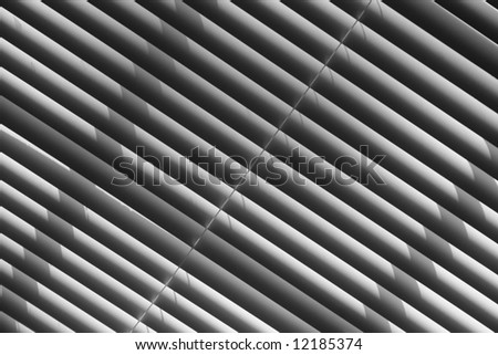 diagonal designs with mini blinds and shadows