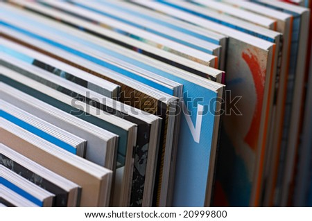 Diagonal row of books