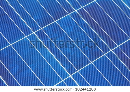 Diagonal shot of a photovoltaic solar panel module
