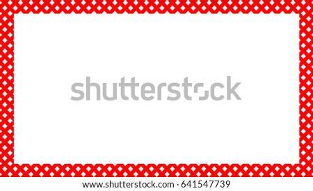 Diagonal Squares Border Frame #641547739
