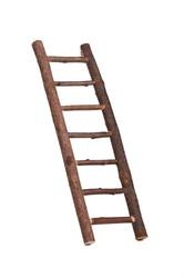 Diagonal wooden ladder