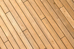 Diagonal Wooden Ship Deck Background with free space for text
