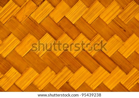 Diagonal woven bamboo strips for background texture