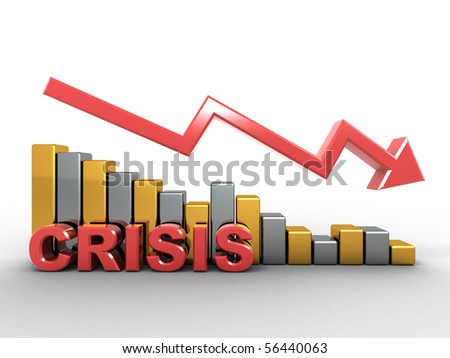 Diagram. Crisis. 3d - stock photo
