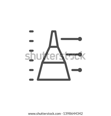 Diagram line icon isolated on white