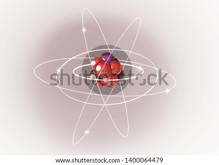 Diagram Of An Atom (includes nucleus, protons, neutrons, electrons in their orbitals, and the electron cloud)
