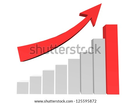 Diagram of business sucess - stock photo