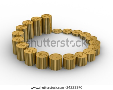 diagram of growth. 3D image. Isolated illustration