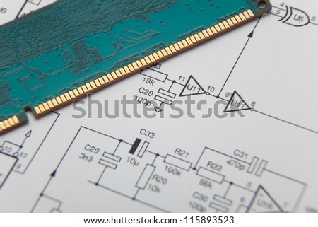 Diagram with computer memory