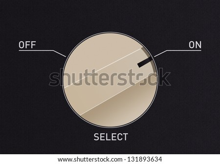 Dial switch to change from off to on