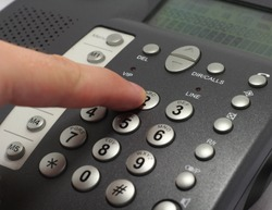 Dialing number on a telephone