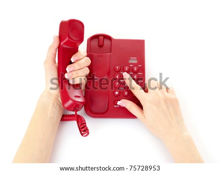 Dialing on the red phone